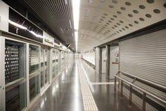 地铁车站La Sagrera内部  库存图片
