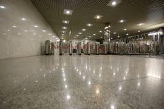 地铁车站Mezhdunarodnaya在莫斯科,俄罗斯 它在30被打开了 08 2006年 库存图片