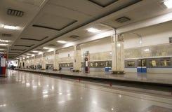 地铁车站Partizanskaya在莫斯科,俄罗斯 它在18被打开了 01 1944年 免版税图库摄影