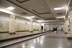 地铁车站Partizanskaya在莫斯科,俄罗斯 它在18被打开了 01 1944年 免版税库存照片