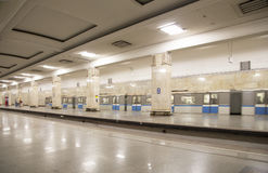 地铁车站Partizanskaya在莫斯科,俄罗斯 它在18被打开了 01 1944年 免版税库存图片