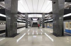 地铁车站Petrovsky公园--是在莫斯科地铁,俄罗斯的Kalininsko-Solntsevskaya线的一个驻地 库存图片
