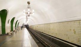 地铁车站VDNKh在莫斯科,俄罗斯 它在01被打开了 05 1958年 库存图片