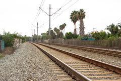 地铁轨道 库存照片