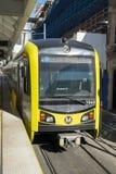 地铁轻的路轨火车 库存照片