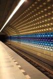 地铁隧道内部  库存图片