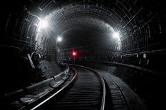 地铁隧道NYC 基辅,乌克兰 Kyiv,乌克兰 免版税图库摄影