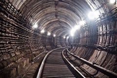 地铁隧道NYC 基辅,乌克兰 Kyiv,乌克兰 免版税库存照片