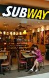 地铁餐馆在新加坡 库存照片