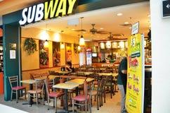 地铁餐馆在新加坡 免版税库存照片
