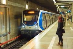 地铁驻地 布加勒斯特罗马尼亚 免版税库存照片