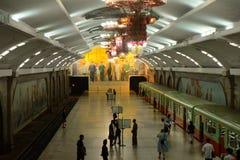 地铁,平壤,北朝鲜 库存照片