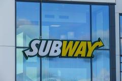地铁,标志 美国快餐餐馆 库存照片
