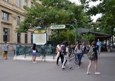 巴黎地铁,巴黎 免版税库存照片