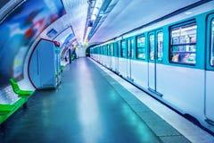 地铁巴黎岗位 图库摄影