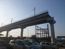 地铁建筑在德里 免版税库存图片
