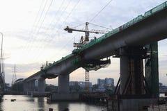 地铁建造场所 免版税库存图片
