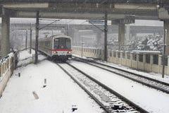 地铁s上海雪 库存照片