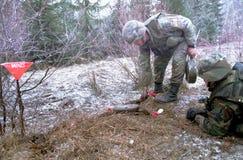 地雷钝化 库存照片