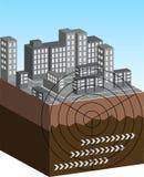 地震例证 向量例证
