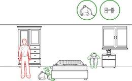 地震保护方法 皇族释放例证