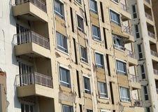 地震发生公寓 图库摄影