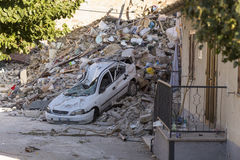 地震后果 免版税库存照片