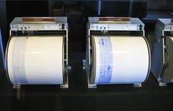 地震图形 免版税库存照片
