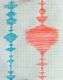 地震学设备板料-地震检波器 免版税库存照片
