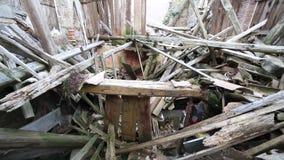 地震毁坏的议院 影视素材