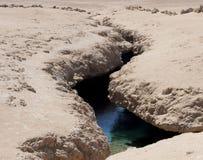 在地皮的裂缝 库存照片