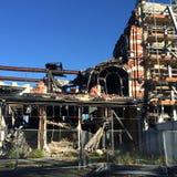 从地震的废墟在克赖斯特切奇,新西兰 图库摄影