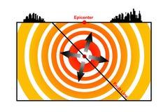 地震 向量例证