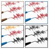 地震仪 库存图片