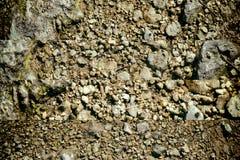 地面在火星,土地纹理,沙子表面,石背景喜欢 库存照片
