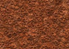 地面毁损火山口纹理表面 免版税库存图片