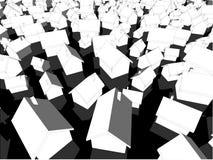 黑地面的白色房子 免版税库存图片