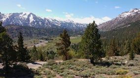 地面蛇通行证,内华达山,加利福尼亚 免版税库存图片