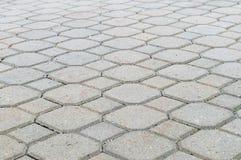 地面铺磁砖形式,装饰路面 免版税库存照片