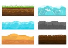 地面集合的颜色横断面 向量 库存例证