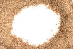 地面麦子框架 Trigo巴拉quibe Kibbeh 库存图片