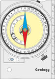 地质指南针 免版税库存照片