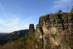 地质砂岩岩层,捷克,欧洲 免版税图库摄影
