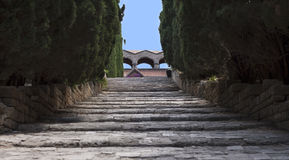 围场在我们的夫人修道院里  免版税库存图片