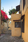 围场在耶路撒冷旧城 Lindos 希腊 库存照片