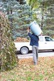 围场清扫运载的垃圾箱 图库摄影