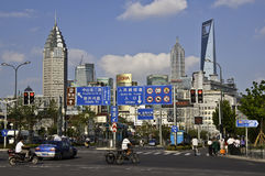 场面上海街道 免版税图库摄影