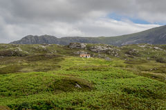 场面在苏格兰, Uist海岛  免版税图库摄影