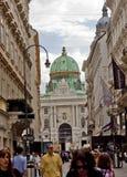 场面在维也纳,奥地利 图库摄影
