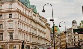 场面在维也纳,奥地利 库存照片